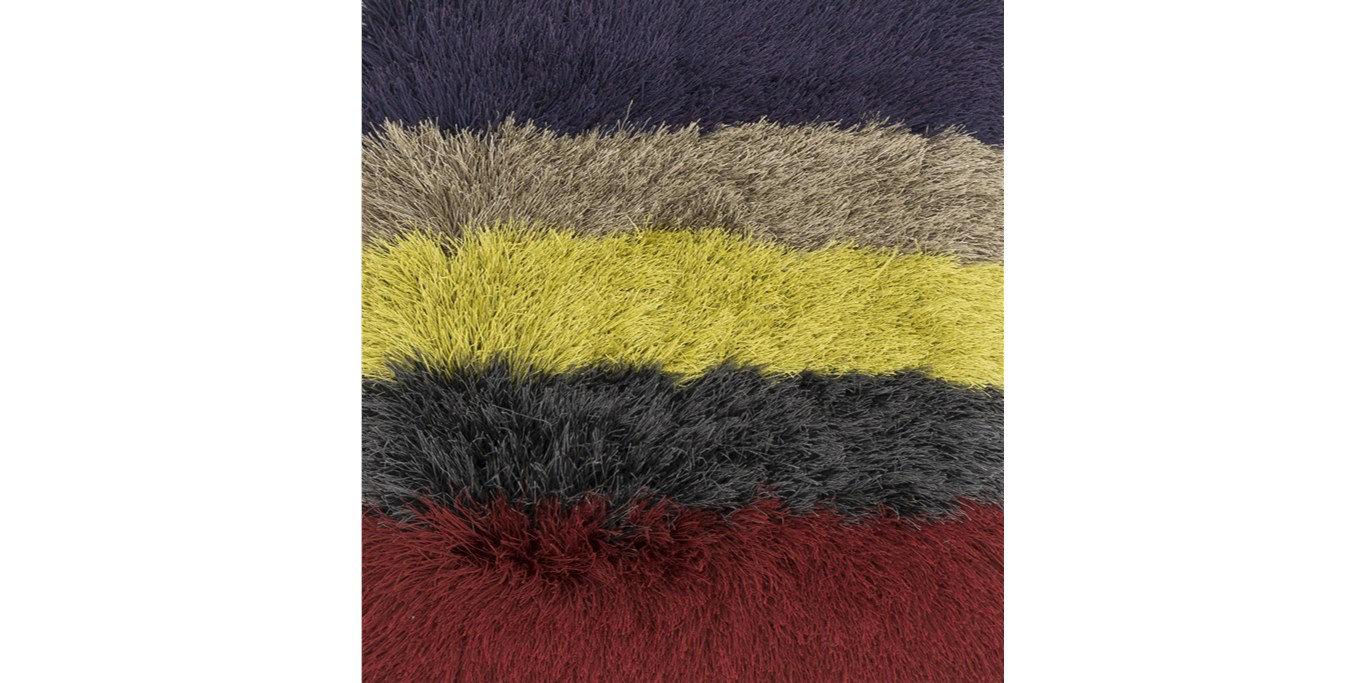 Latitude Run Hersi Hand Tufted Red Black Yellow Area Rug Wayfair