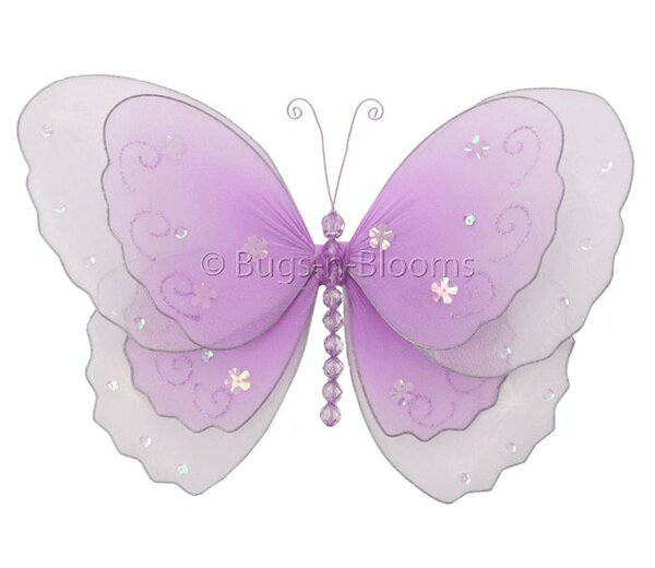 Kristopher Butterfly Hanging Multi-Layered Nylon 3D Wall Decor by Harriet Bee