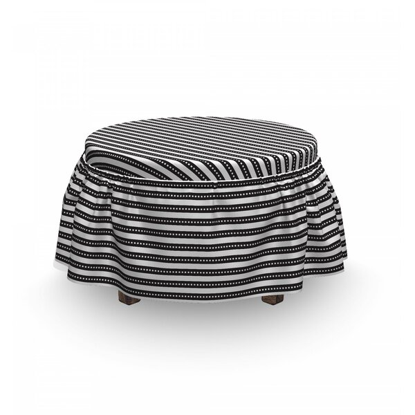 Abstract Symmetric Ottoman Slipcover (Set Of 2) By East Urban Home