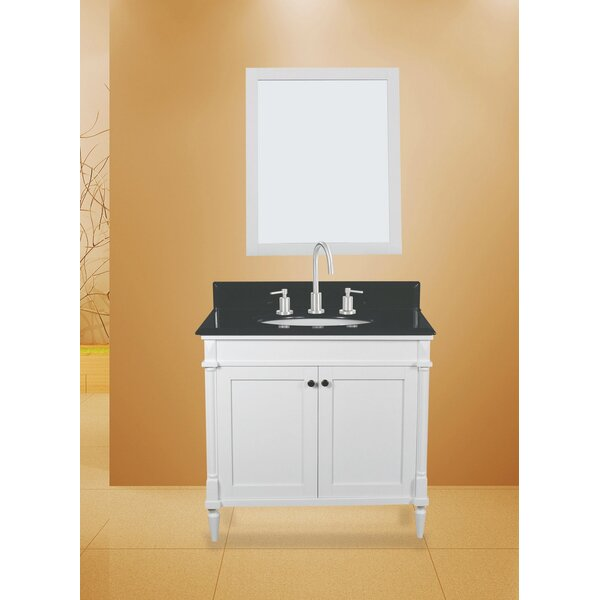 Barcelona 30 Single Bathroom Vanity with Mirror by NGY Stone & Cabinet