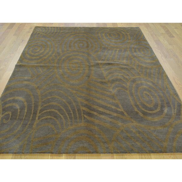 One-of-a-Kind Blomberg Hand-Knotted Brown Wool Area Rug by Isabelline