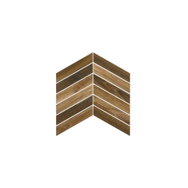 Madera 3 x 16 Porcelain Wood Look Tile in Walnut by The Bella Collection
