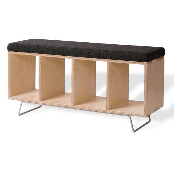 Birch Wooden Storage Bench by Offi