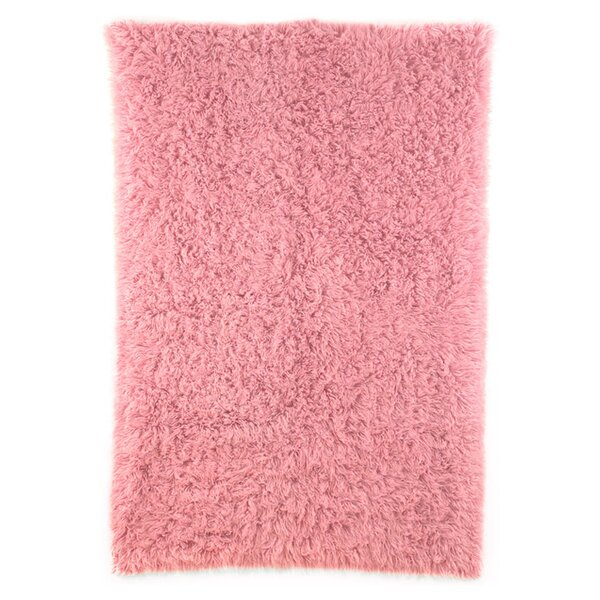 Flokati Wool Rose Dusky Area Rug by nuLOOM