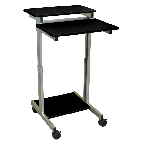 Standing Desk AV Cart with Casters by Luxor
