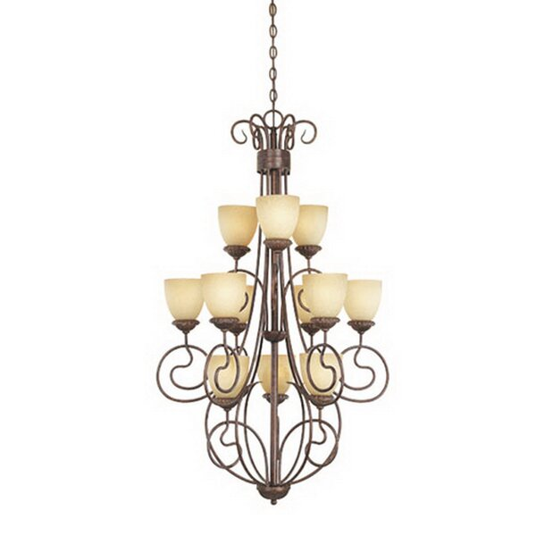 Tazewell 12 - Light Shaded Tiered Chandelier By Fleur De Lis Living
