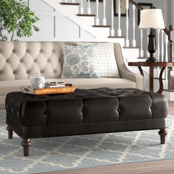 Luciano Tufted Cocktail Ottoman By Alcott Hill by Alcott Hill Great price