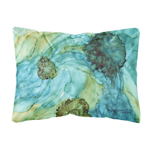 Mayfield Abstract Flowers Indoor/Outdoor Throw Pillow by Winston Porter