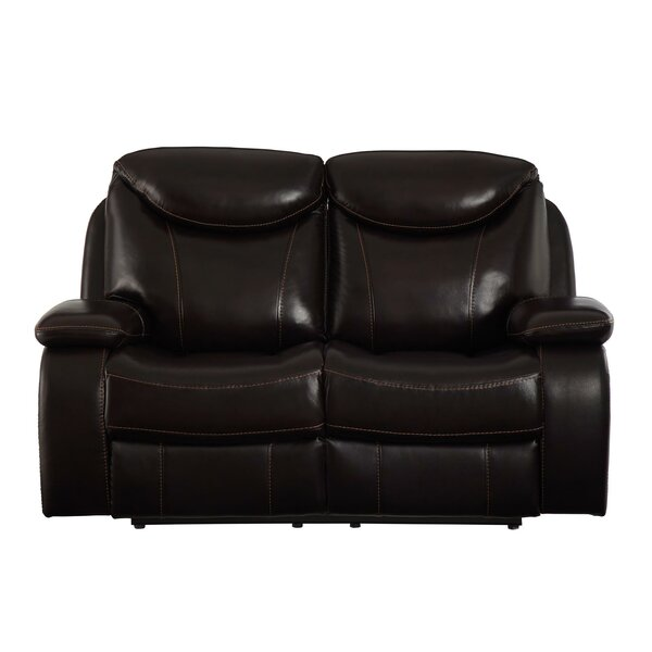 Aarav Upholstered Dual Reclining Loveseat by Red Barrel Studio