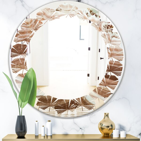 Crystals Minerals and Stones Leaves Modern Frameless Wall Mirror