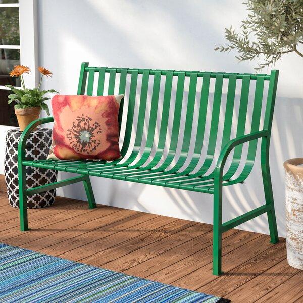Outdoor Slatted Metal Bench by Witt