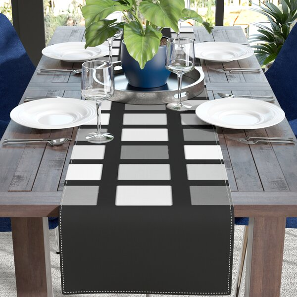 Trebam Plocica Grid Table Runner by East Urban Home