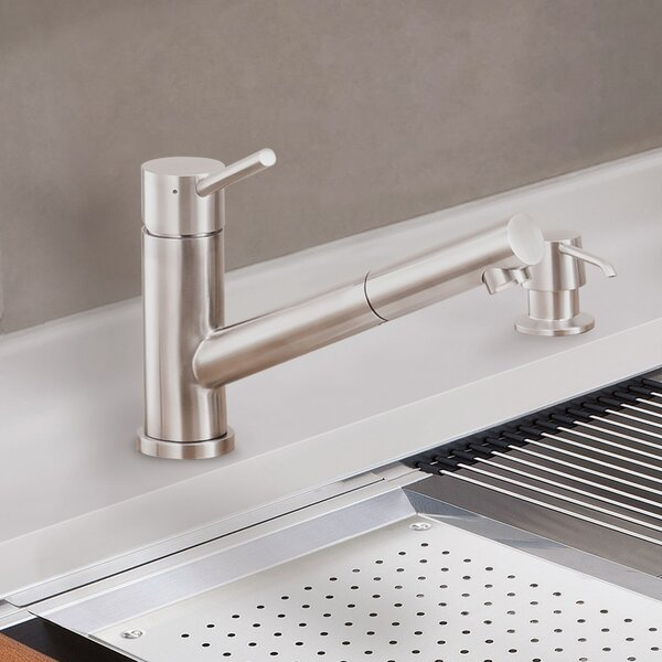 Single Handle Kitchen Faucet with Side Spray by Lenova
