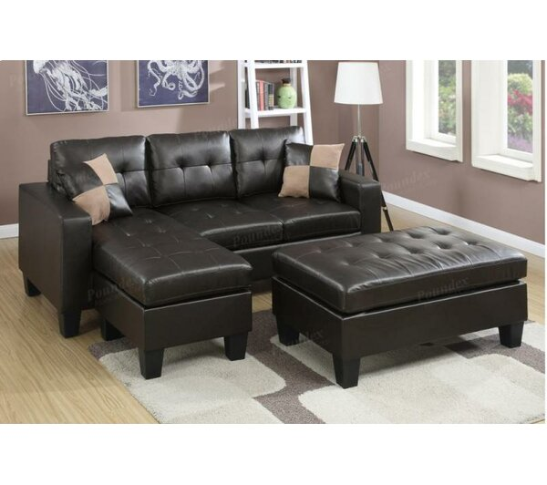 Michaud Reversible Sectional With Ottoman By Ebern Designs