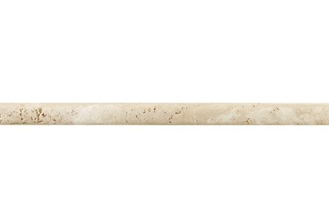 Georgia 12 x 1 Travertine Quarter Round Tile Trim in Mediterranean Ivory by Itona Tile
