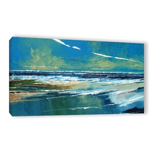 Rectangular Sea View I Painting Print on Wrapped Canvas by Breakwater Bay