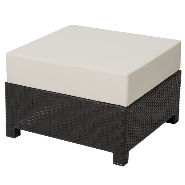 Farias Outdoor Ottoman with Cushion by Red Barrel Studio