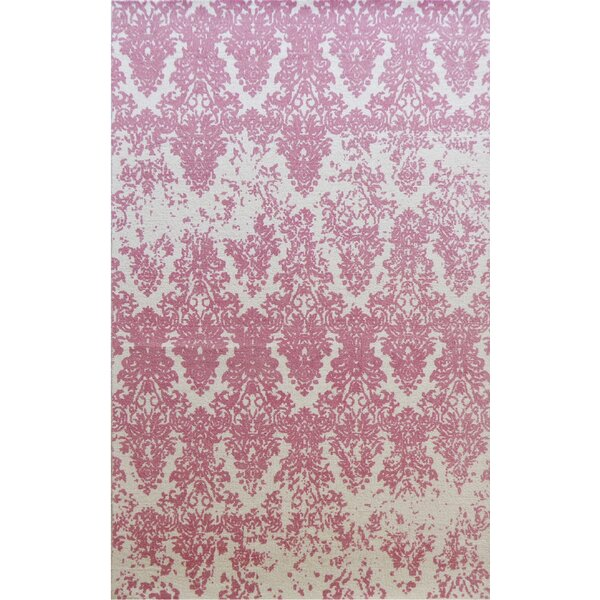 Gerry Hand-Woven Ivory/Blush Area Rug by Ophelia & Co.