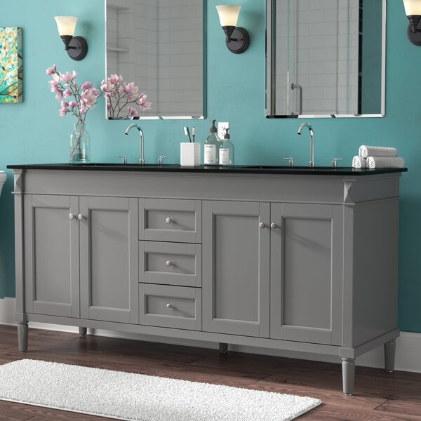 Millfield 71 Double Bathroom Vanity Set by Andover Mills