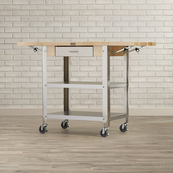 Cucina Americana Kitchen Cart with Wood Top by John Boos