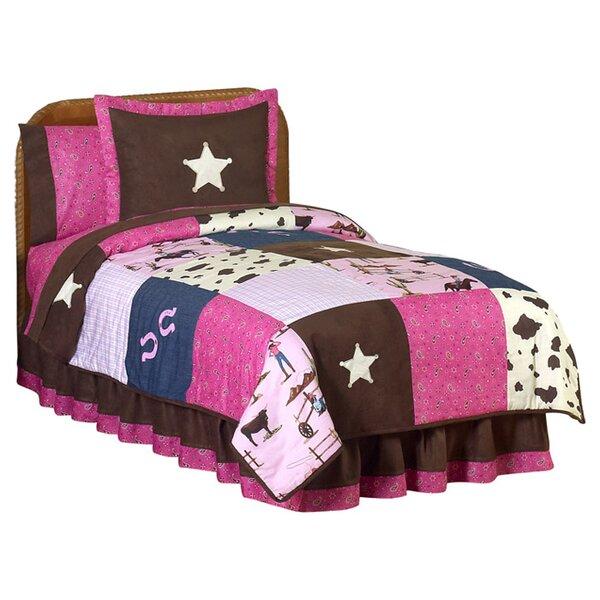 Cowgirl 4 Piece Twin Comforter Set by Sweet Jojo Designs