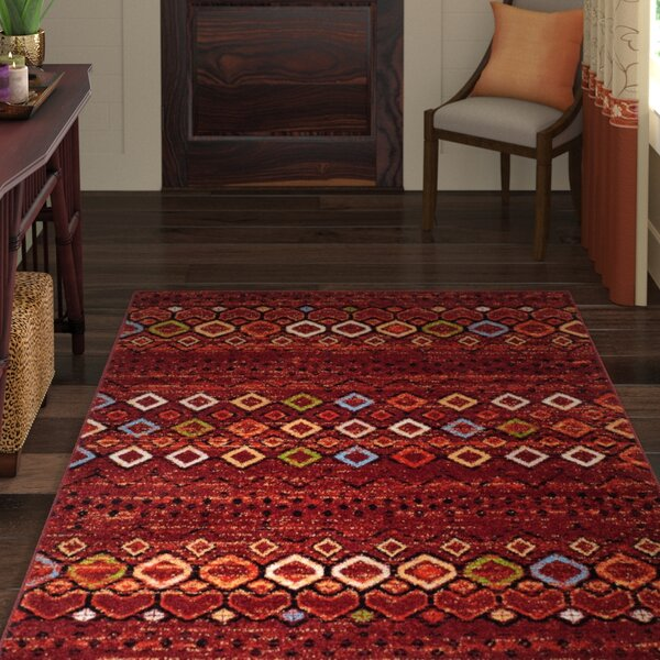 Vadim Terracotta Area Rug by World Menagerie
