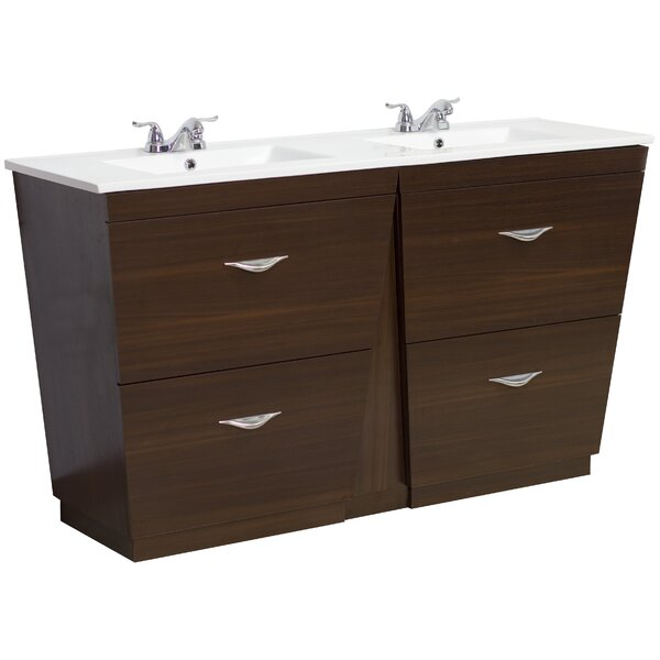 60 Double Modern Bathroom Vanity Set by American Imaginations