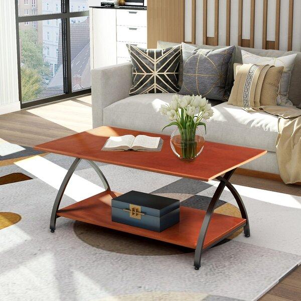 Broadbridge Cross Legs Coffee Table With Storage By Wrought Studio