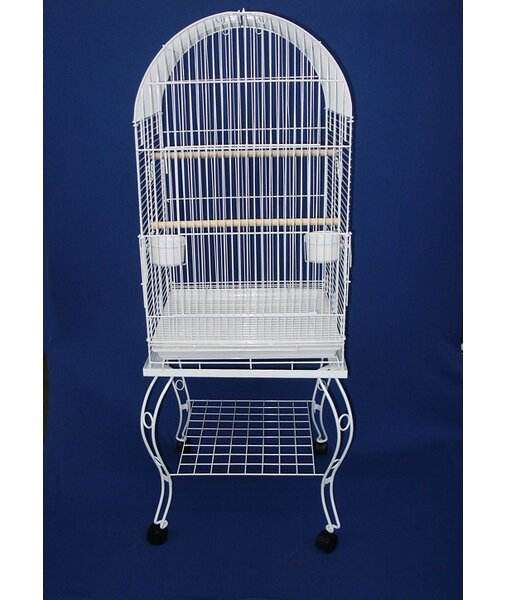 Minnie Dome Top Parrot Bird Cage with Stand by Tucker Murphy Pet