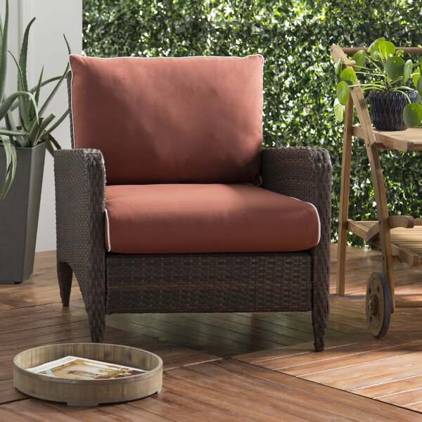 Mosca Patio Chair with Cushion by World Menagerie