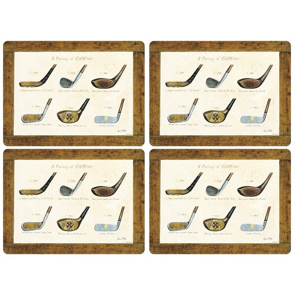 A History of Golf 16 Placemat (Set of 4) by Pimpernel