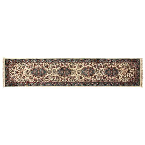 One-of-a-Kind Fine Qoom Hand-Woven Wool Rust/Blue Area Rug by Exquisite Rugs