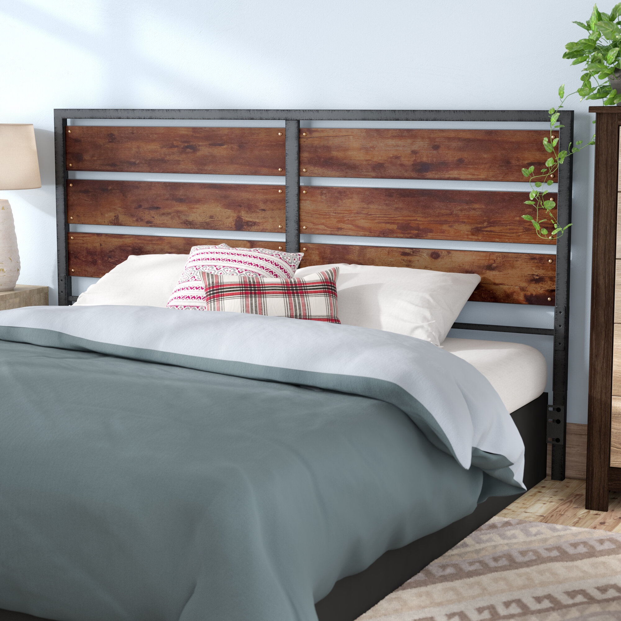 Union Rustic Abril Queen Slat Headboard Reviews Wayfair