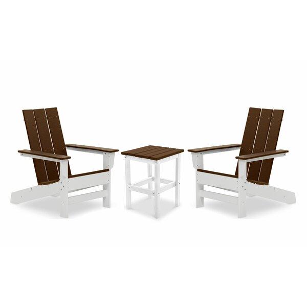 Oakdale Plastic/Resin Adirondack Chair with Table (Set of 2) by Breakwater Bay Breakwater Bay