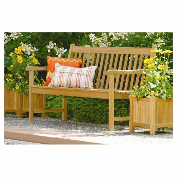 Harpersfield Wooden Garden Bench by Beachcrest Home