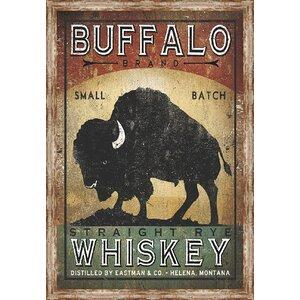 Wildlife, Birds & Animals 'Buffalo Whiskey' Framed Vintage Advertisement by Ashton Wall Décor LLC