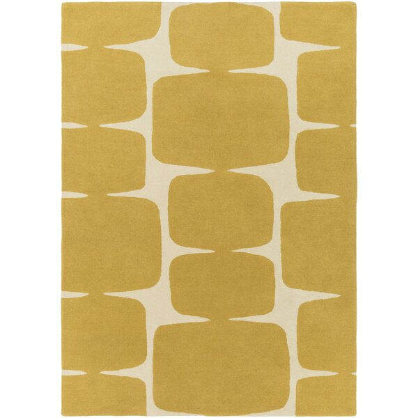 Baltwood Hand-Tufted Mustard/Cream Area Rug by Langley Street