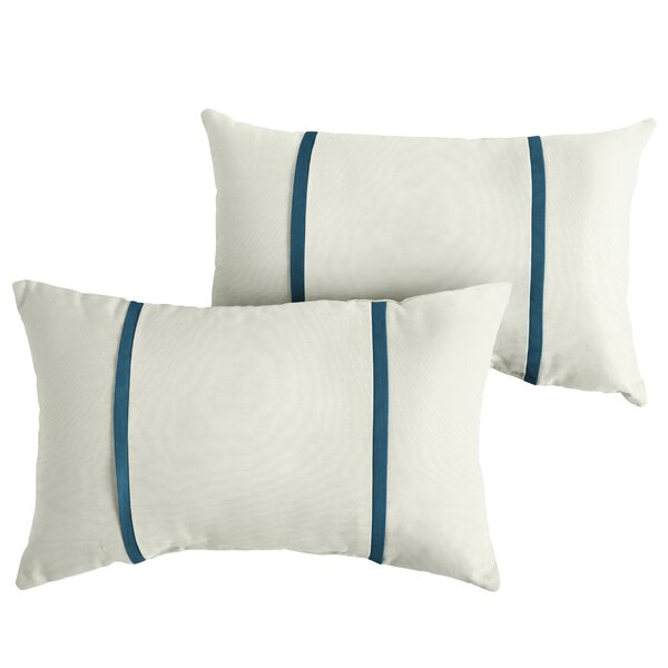 Flory Indoor/Outdoor Sunbrella Lumbar Pillow (Set of 2) by Charlton Home