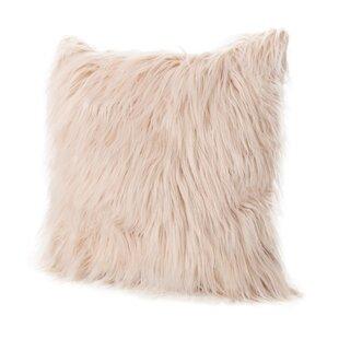 Milagro Faux Fur Square Throw Pillow