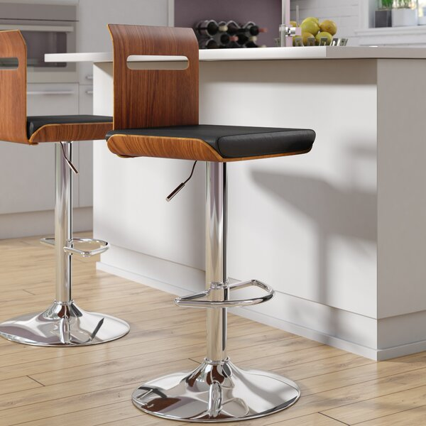 Grove City Adjustable Height Swivel Bar Stool by Wade Logan