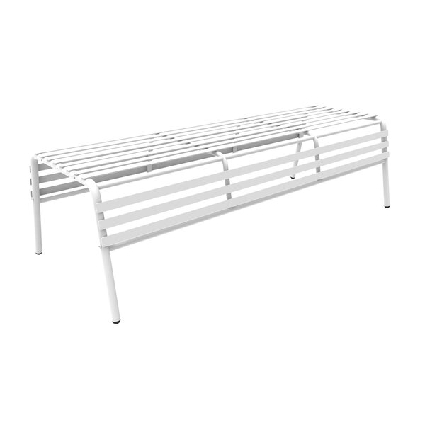 Dasilva Steel Garden Bench by Breakwater Bay