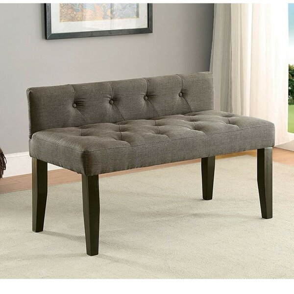 Cantor Contemporary Wood Bench by Alcott Hill