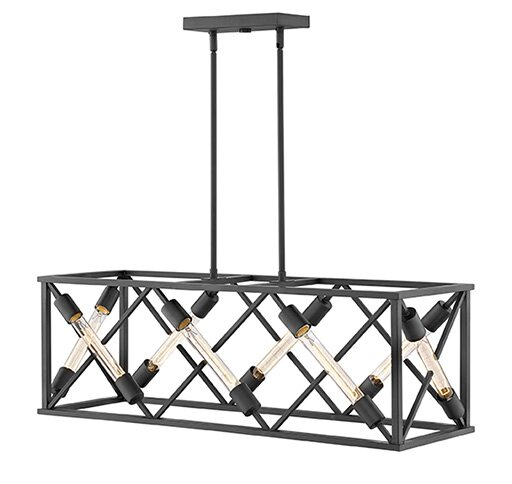 Arbnore 8 - Light Unique / Statement Square / Rectangle Chandelier By Latitude Run