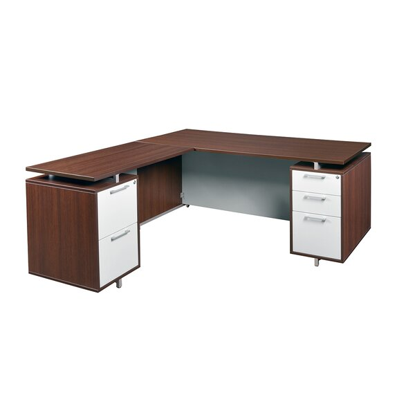 Maverick Executive Desk with 2 Drawers by Brayden Studio