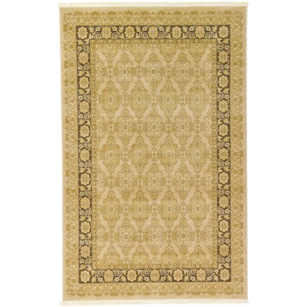 Fonciere Cream Area Rug by World Menagerie