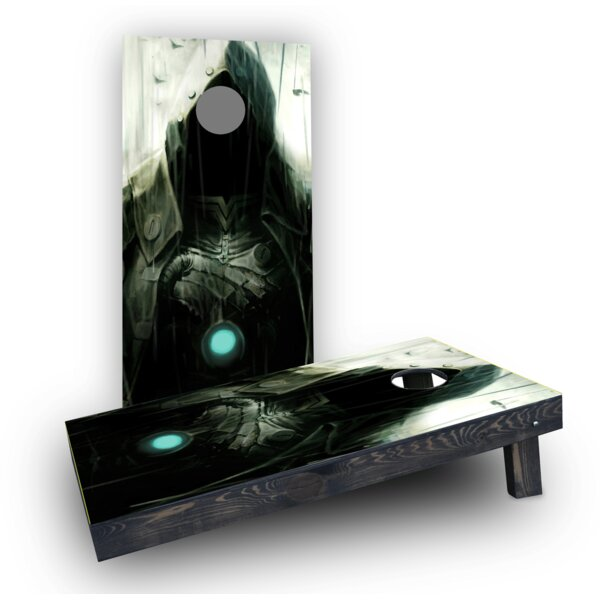 Hooded Villian Cornhole Boards (Set of 2) by Custom Cornhole Boards