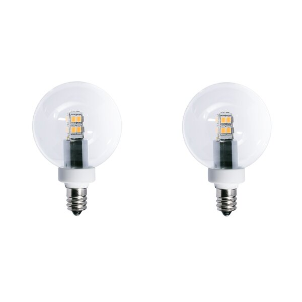 2.5W E12 LED Globe Light Bulb (Set of 2) by Bulbrite Industries