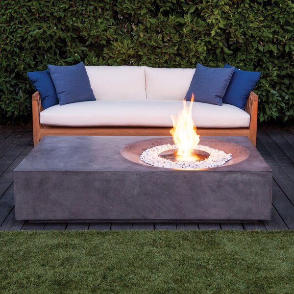 Equinox Concrete Natural Gas/Propane Fire Pit Table
