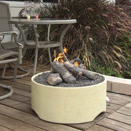 Stucco Fire Pit by Tretco