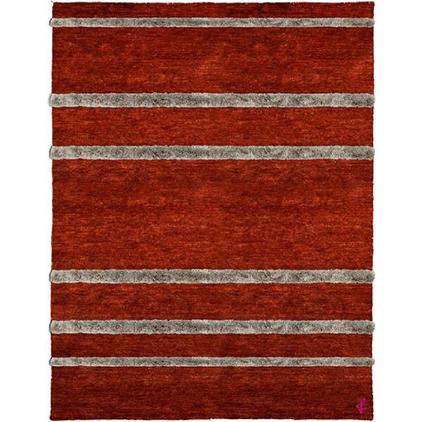 One-of-a-Kind Sula Hand-Knotted Tibetan Red 10' Round Wool Area Rug